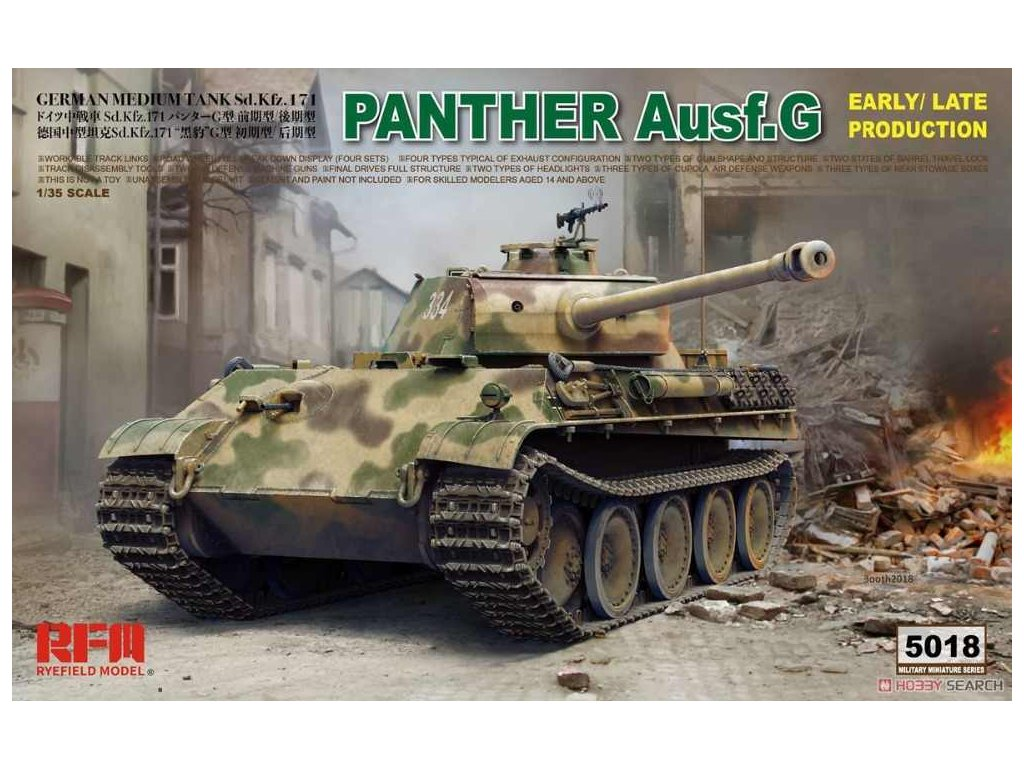 Ryefield Model RFM5018 1 35 Panther Ausf G Early Late productions Model Kit.jpg q50