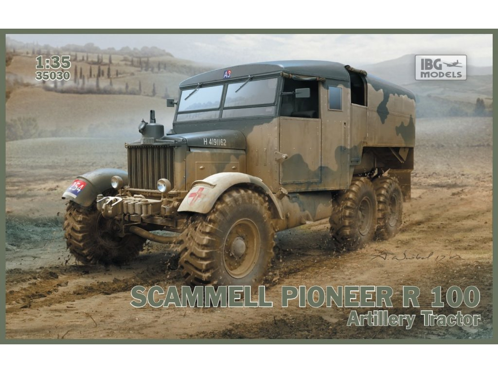 1 35 scammell pioneer r 100 artillery tractor