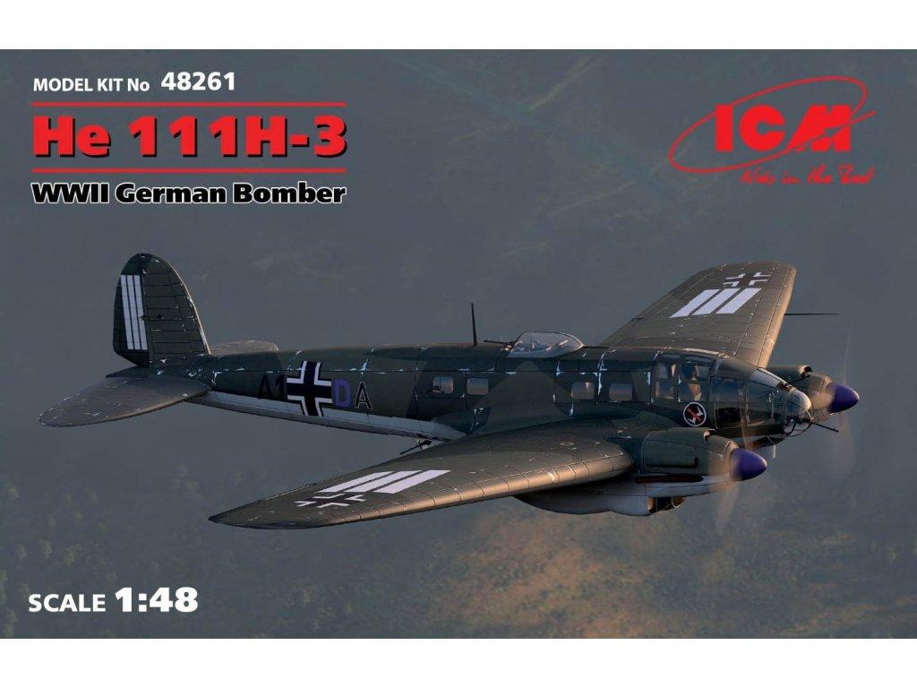 48261 He 111H 3 German Bomber