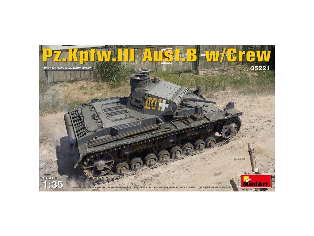 1/35 Pz.Kpfw. III Ausf. B w/ crew (5 fig.)