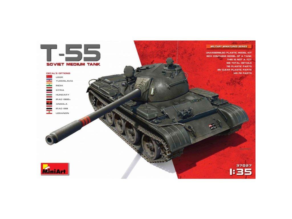 1/35 T-55 Soviet Medium Tank (9x camo)
