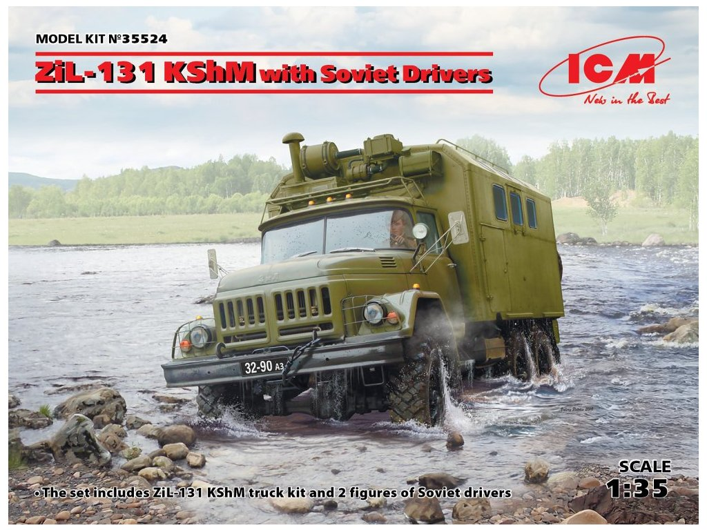 ICM 35524 ZiL 131 KShM with soviet drivers