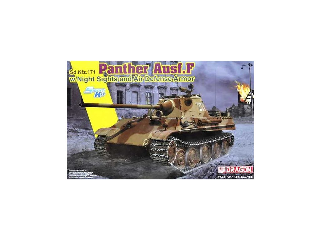 Model Kit tank 6917 - Panther Ausf.F w/Night Sight and Air Defense Armor (1:35)