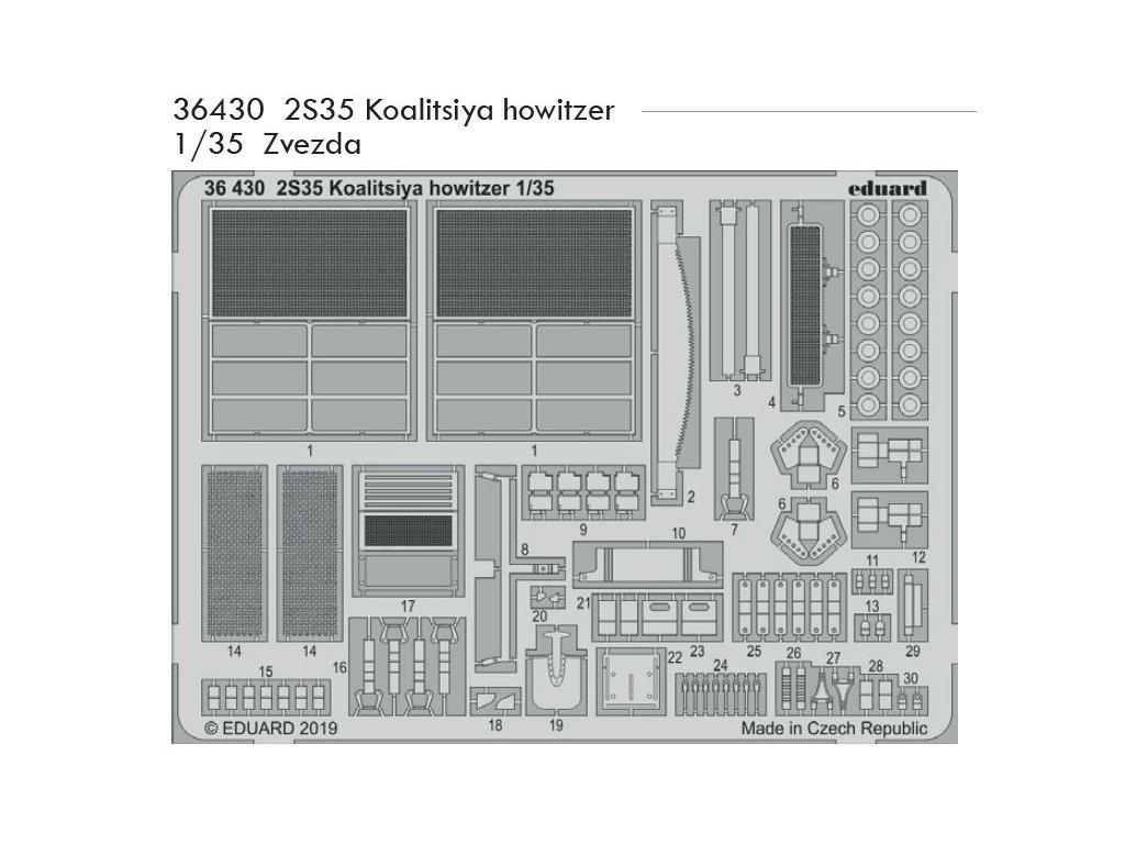 36430 2S35 Koalitsiya howitzer 1 35