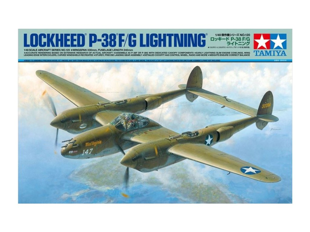 61120 Lockheed P 38F G Lightning