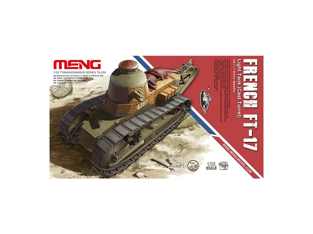 MENTS 008 French FT 17 Cast turret