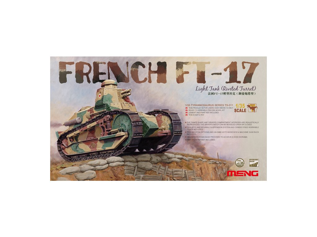 MENTS 011 French FT 17 Riveted turret