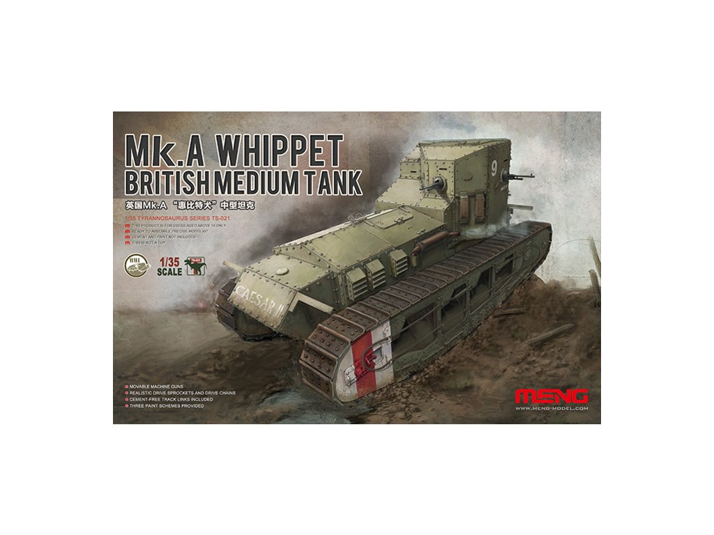 MENTS 021 British medium tank Mk.A Whippet