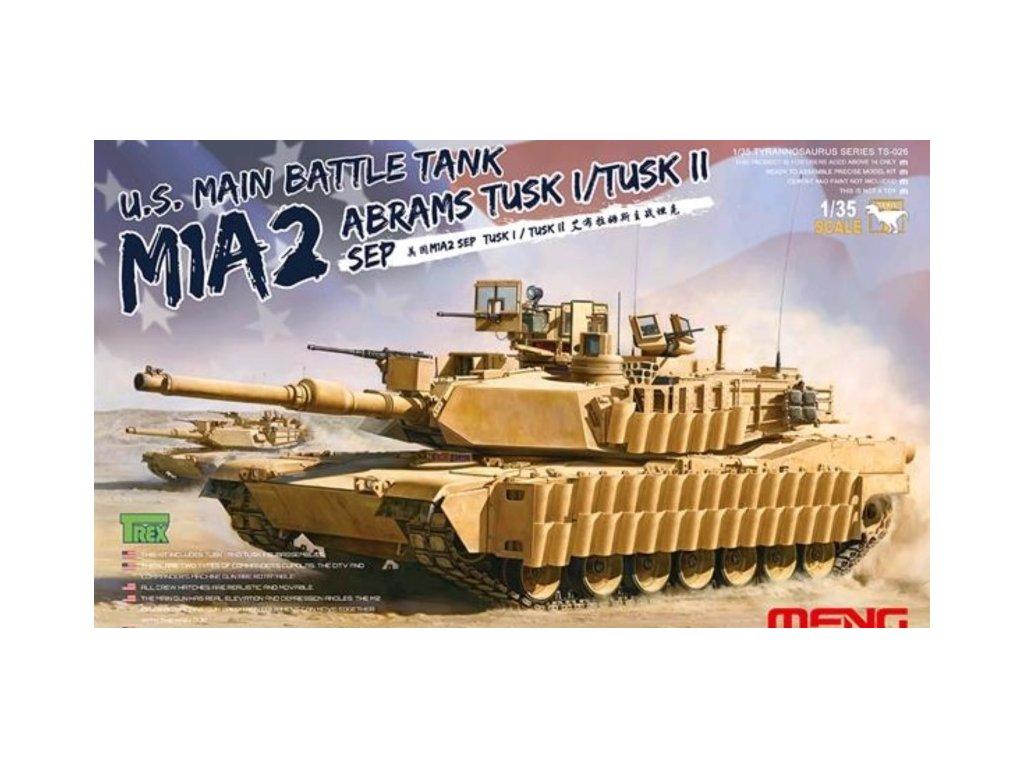 MENTS 026 U.S. M1A2 ABRAMS TUSK I TUSK II