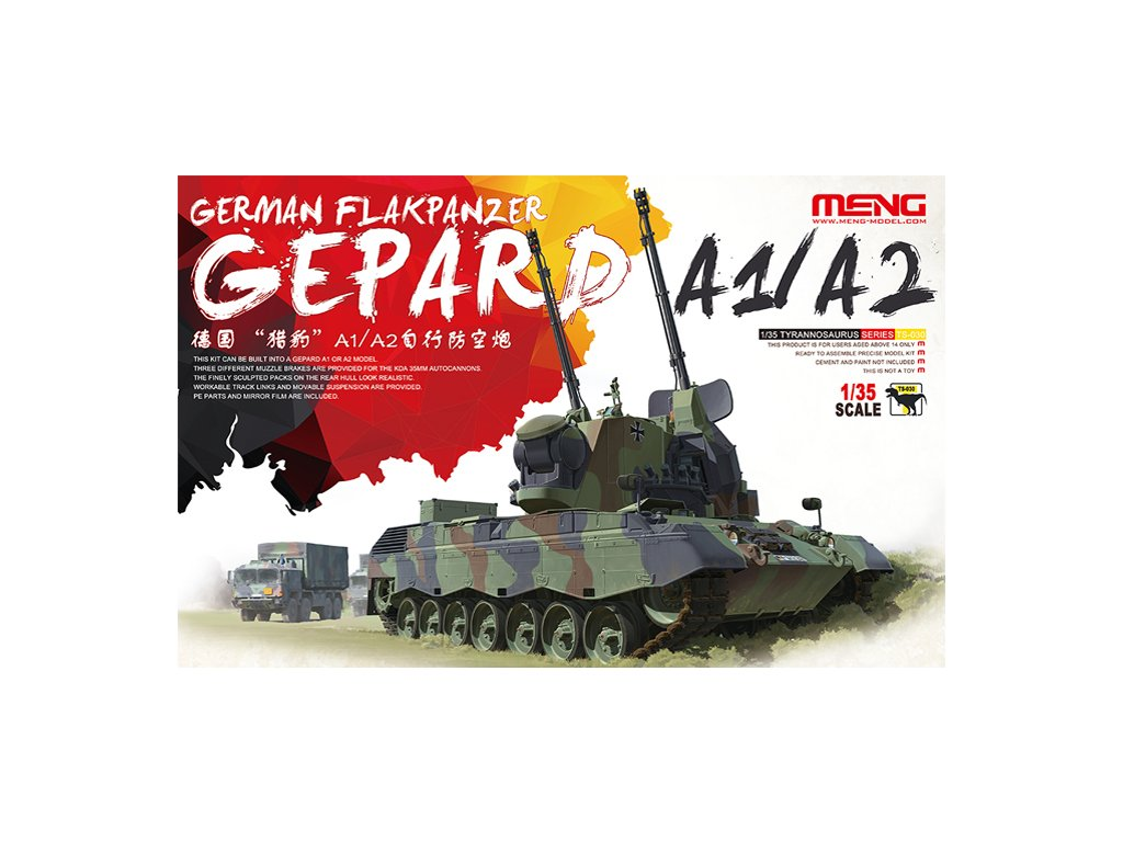 MENTS 030 Gepard A1 A2 german flakpanzer