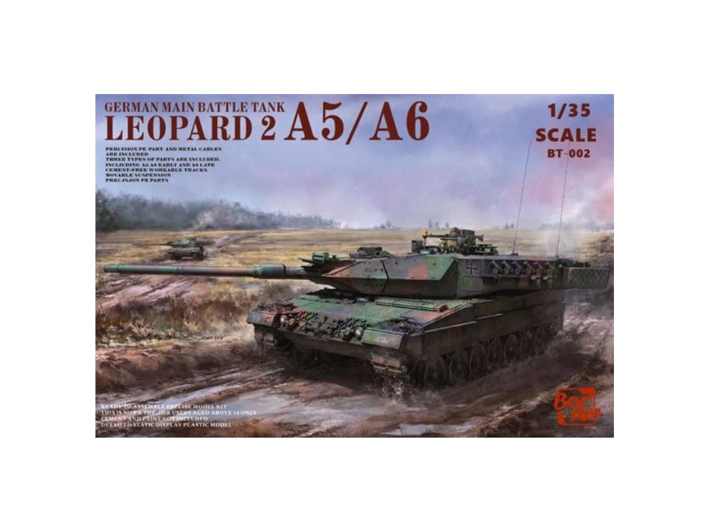 BT002 Leopard 2A5 A6 A5 A6 Early & A6 Late