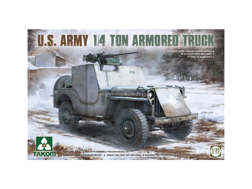 2131 U.S. Army 1 4 Ton Armored Truck