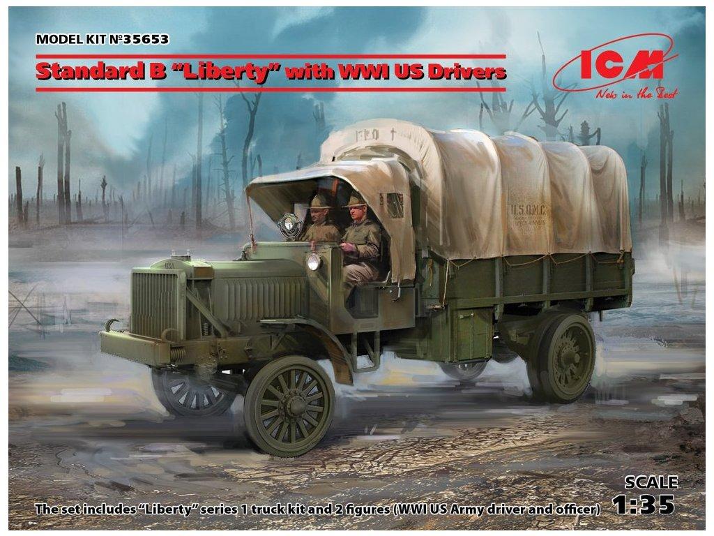 ICM 35653 1 35 Standard B 'Liberty' with US WWI drivers