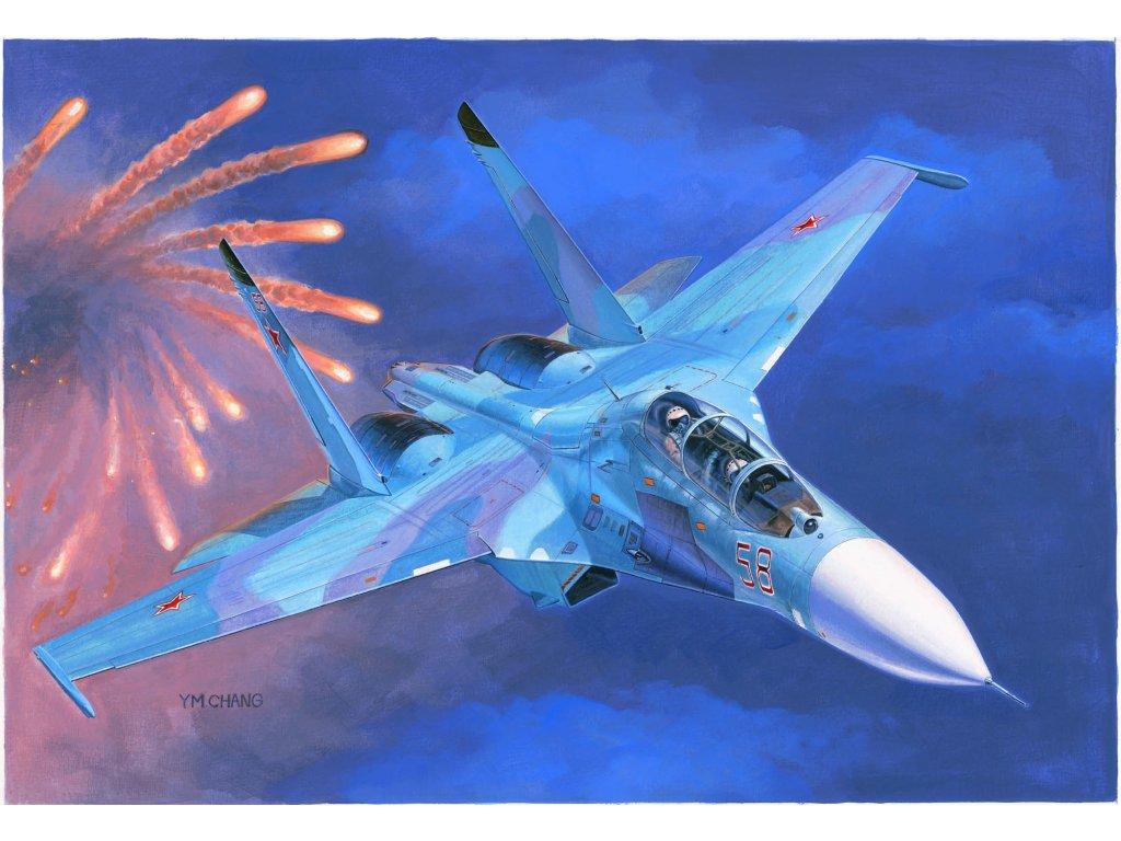 Russian Su 27UB Flanker C Fighter 01645