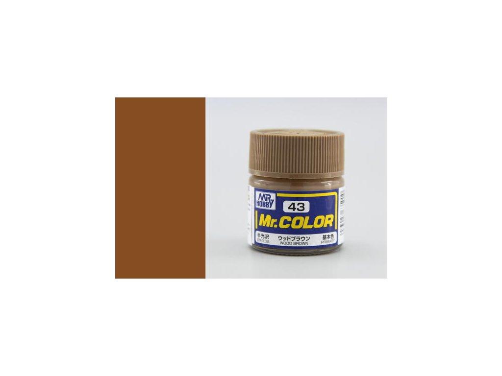 GNZC043 Wood Brown Barva dřeva