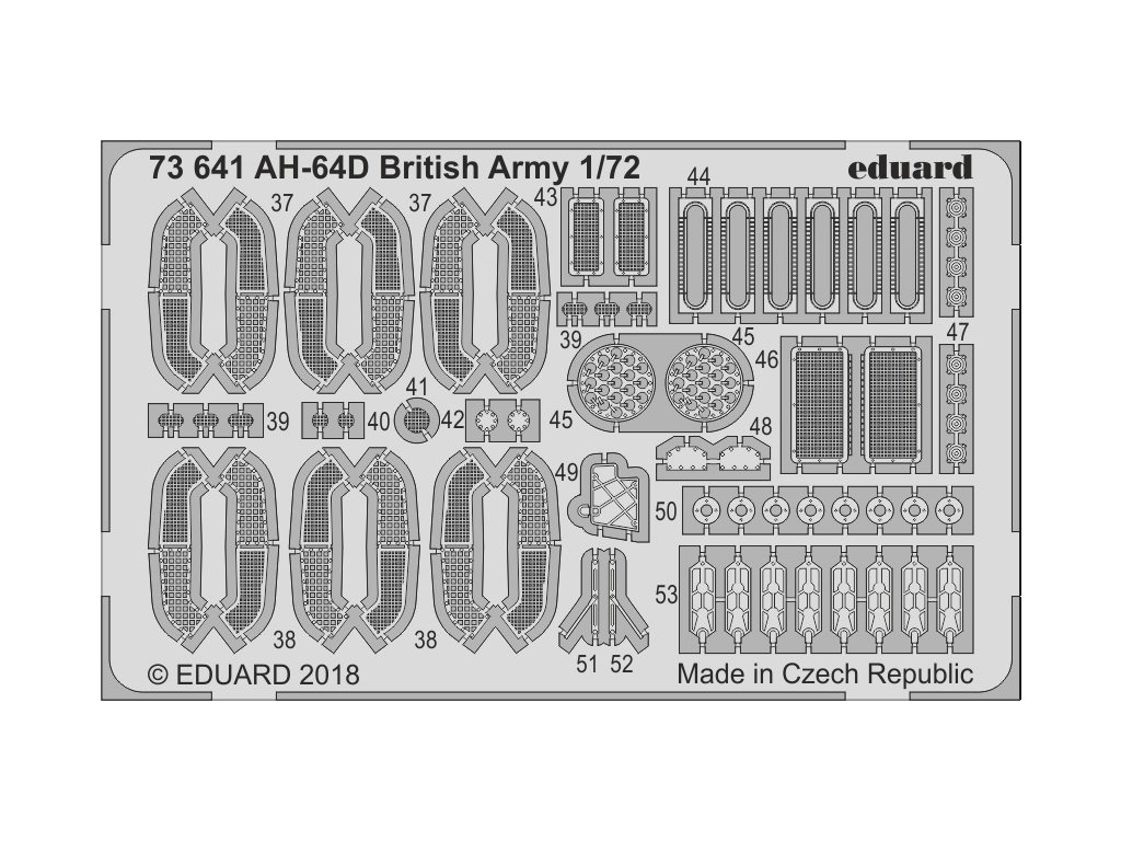 73641 AH 64D British Army 1 72 Academy