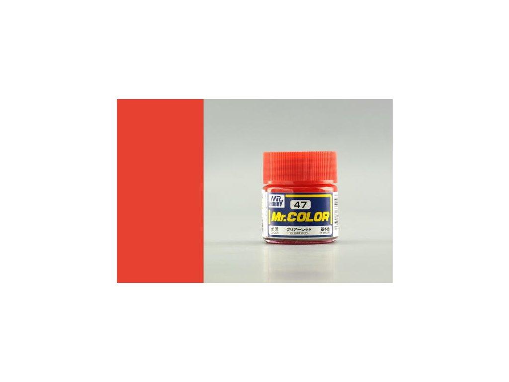 GNZC047 Clear Red Transparentní červená