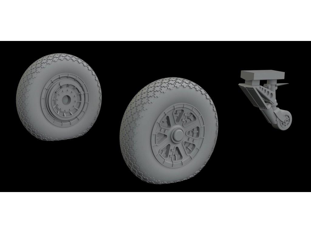 672203 F6F wheels 1 72 Eduard