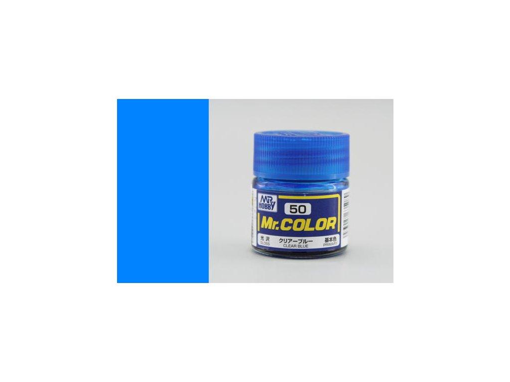 GNZC050 Clear Blue Transparentní modrá