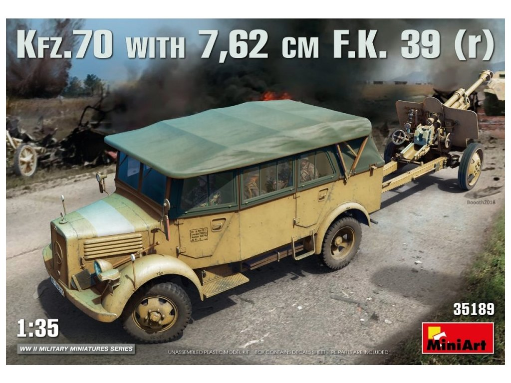 35189 Kfz.70 with 7,62 cm F.K.39(r) Miniart