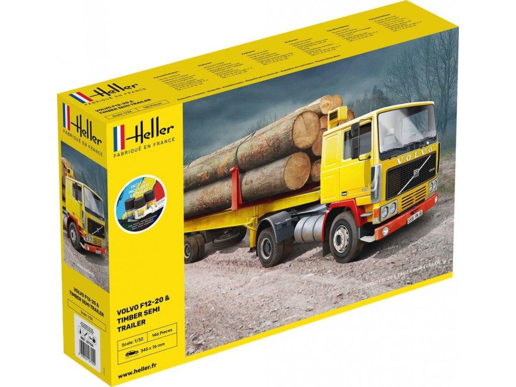 57704 Volvo F12 20 & Timber Semi Trailer