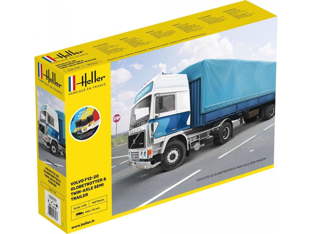 57703 Volvo F12 20 Globe Trotter & Twin Axle Semi Trailer Starter Set