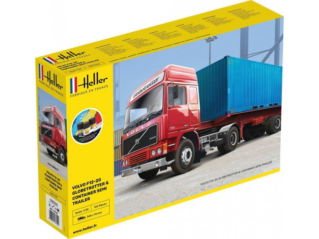 57702 Volvo F12 20 Globe Trotter & Container Semi Trailer Starter Set