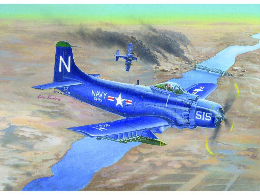 02252 A 1D AD 4 Skyraider