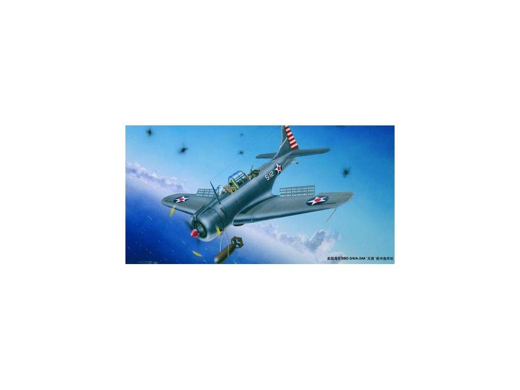 02242 U.S.NAVY SBD 3 4 A 24A Dauntless