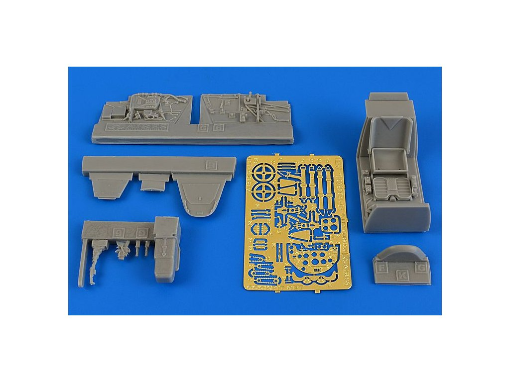 AIR4697 1 48 bf 109g 6 early cockpit set EDU