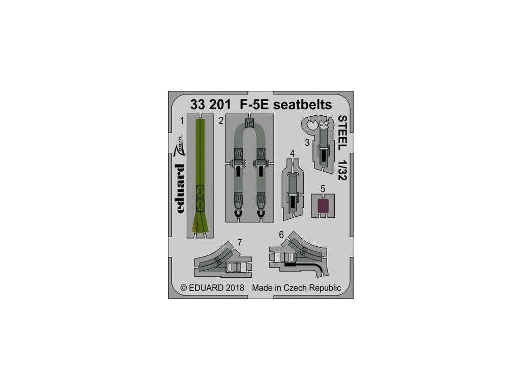 1/32 F-5E seatbelts STEEL   (KITTY HAWK)
