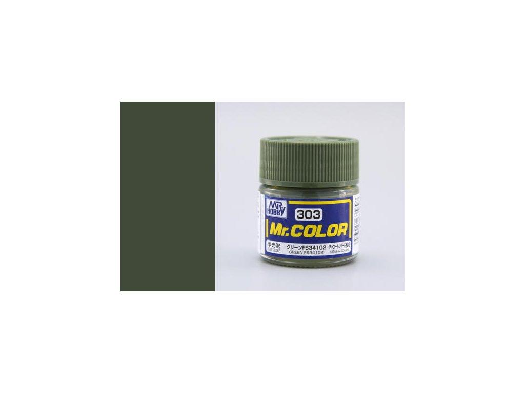 GNZC303 FS34102 Green Zelená