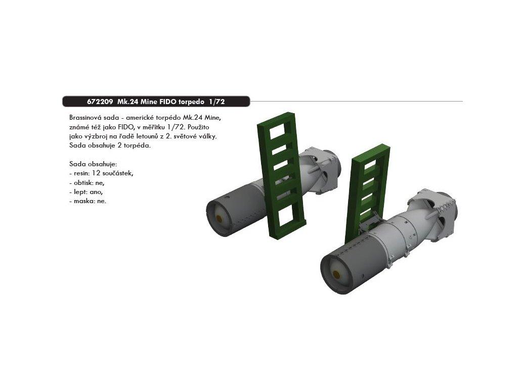 672209 2 Mk.24 Mine FIDO torpedo 1 72