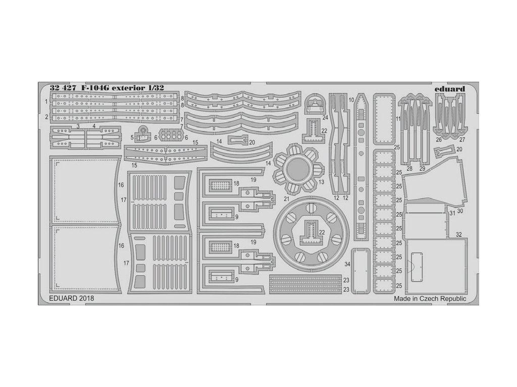 32427 TF 104G exterior 1 32 Italeri