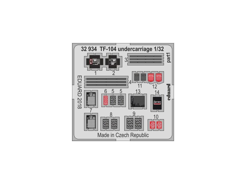 32934 2 TF 104G undercarriage 1 32 Italeri