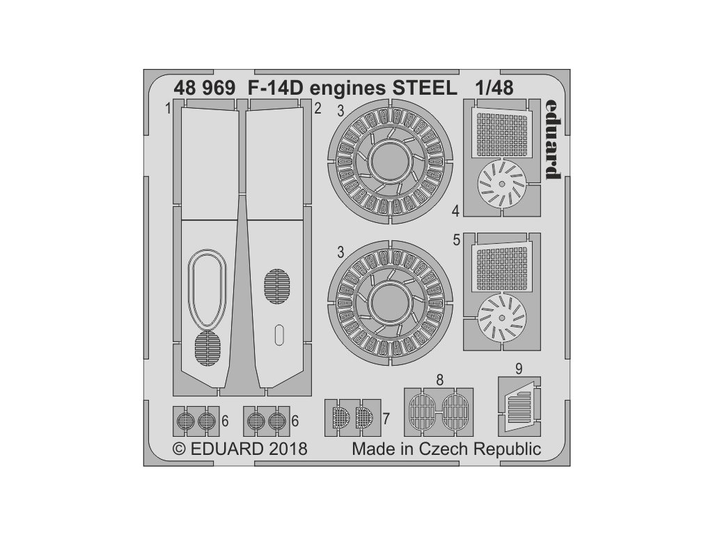 48969 F 14D engines STEEL 1 48 Tamiya