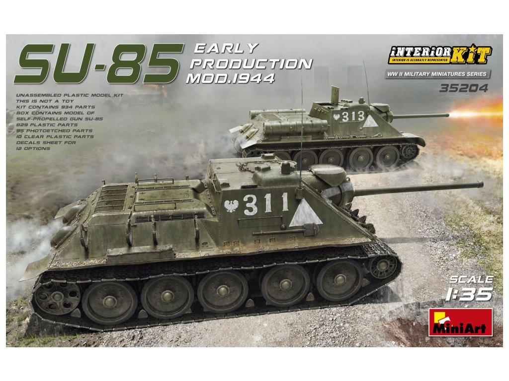 1/35 SU-85 Mod.1944 Early Product. w/ Interior Kit