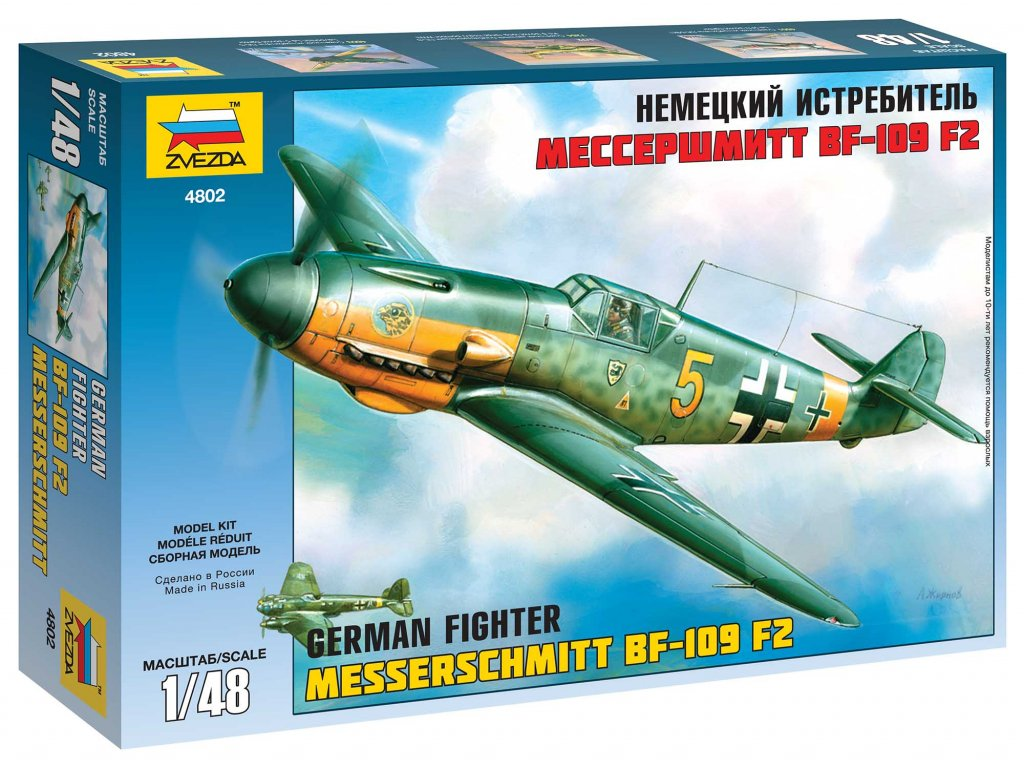 Model Kit letadlo 4802 - Bf-109 F2 (1:48)
