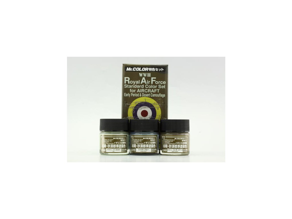 GNZCS683 ROYAL AIR FORCE (WWII) COLOR EARLY RAF early sada barev 3x10ml (C368, C369, C370)