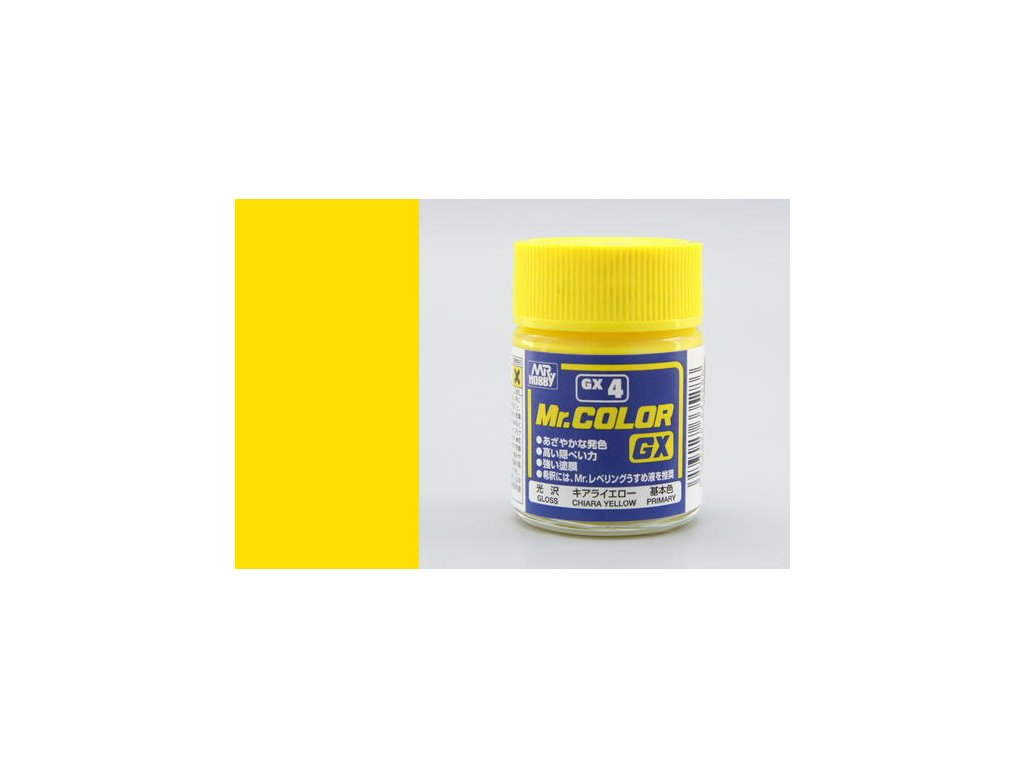GNZGX04 Yellow žlutá (18ml)