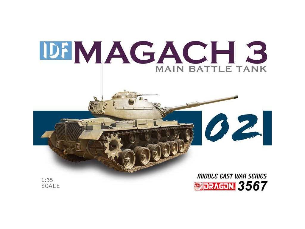 Model Kit tank 3567 - IDF Magach 3 (1:35)