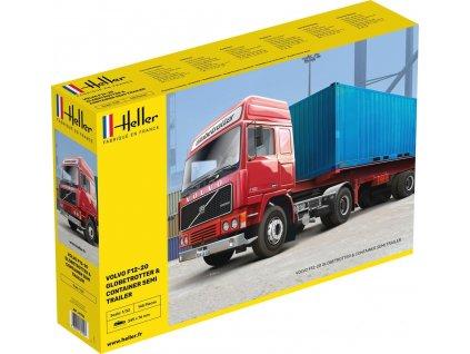 1/32 Volvo F12-20 Globetrotter & Container semi trailer