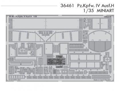 36461 Pz.Kpfw. IV Ausf.H 1 35 Miniart