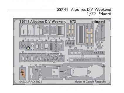 SS741 Albatros D.V Weekend 1 72 Eduard