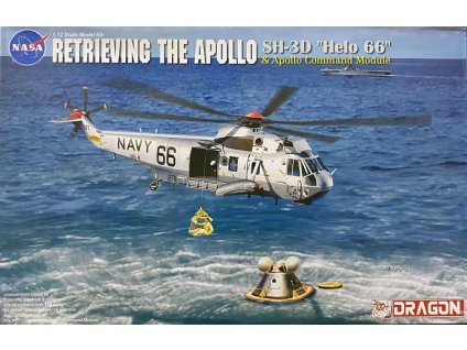 "Model Kit vrtulník 11026 - Apollo Recovery SH-3D ""Helo 66"" & Apollo Command Module (1:72)"