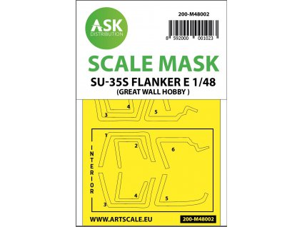 1/48 Su-35S Flanker E mask for Great Wall Hobby