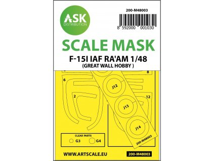 1/48 F-15I Ra'am mask for Great Wall Hobby