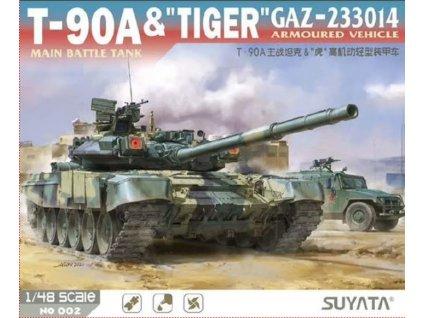 NO 002 T 90A Main Battle Tank & Tiger Gaz 233014 Armoured Vehicle