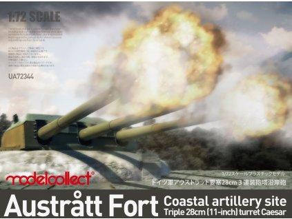 0006751 austratt fort coastal artillery site triple 28cm turret caesar