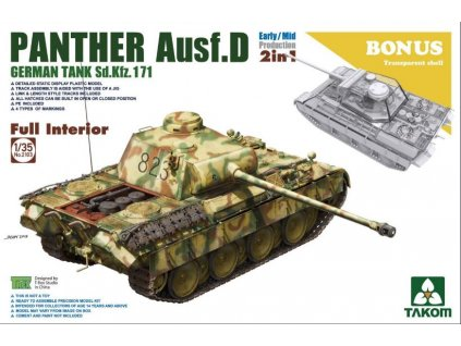 2103 Panther Ausf. D Early Mid 2 in 1 with bonus clear parts